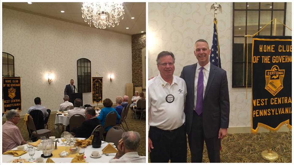 Rep. Scott Perry Enjoyed speaking to members of the Sertoma Club of York about issues before Congress and to hear about our dedicated community service.