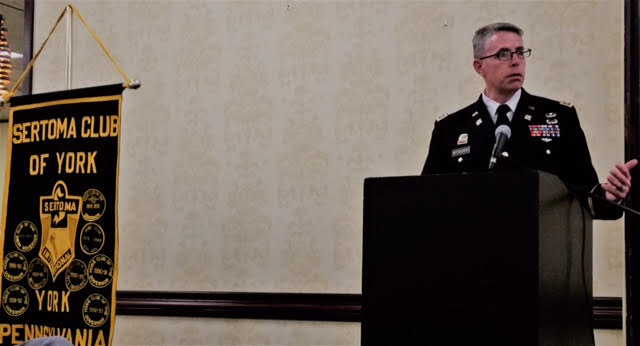 Lt. Col. Jason Affolder of the US Army War College shared information on our military in Spring 2017.