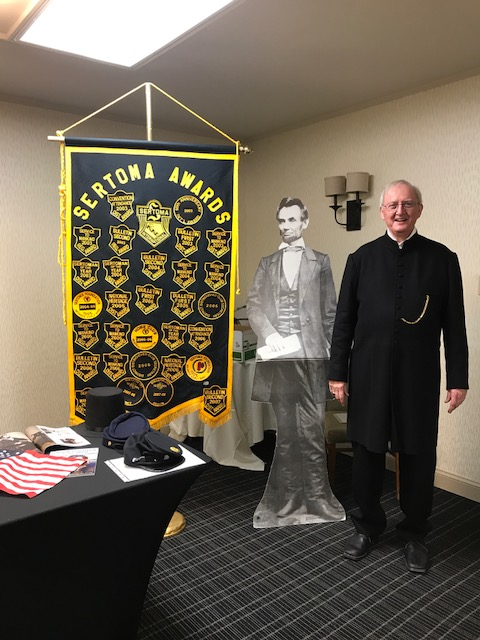 The Rev. Curt Weber, Civil War Historian, shared about the role of Chaplains during the war on June 15th.