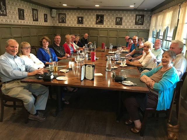 "Club members enjoy a summer ""Dick's Dine Around"" event at First Post."