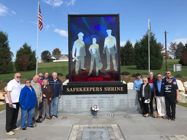 Members enjoyed a tour of York County's historic Prospect Hill Cemetary.  Safekeepers Shrine (pictured) is a memorial honors the selfless service and sacrifice of York County's First Responders.